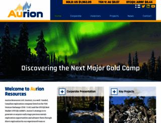 aurionresources.com screenshot