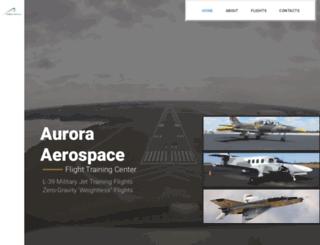 aurora-aerospace.com screenshot