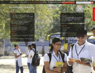 aurora.edu.in screenshot