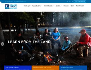 auroracollege.nt.ca screenshot