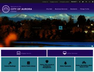 auroragov.org screenshot