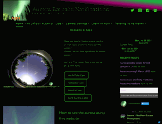 auroranotify.com screenshot