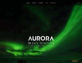 auroraskystation.se screenshot