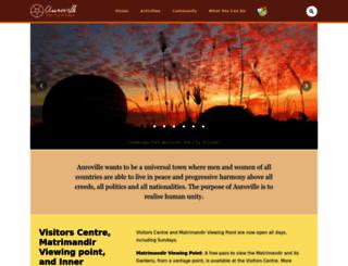 auroville.org screenshot