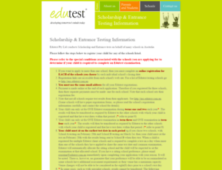 aus.edutest.com.au screenshot