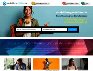 ausbildungsstellen.de screenshot