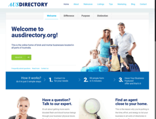 ausdirectory.org screenshot