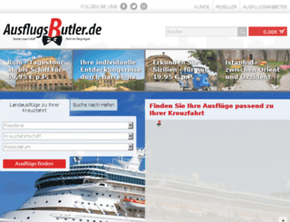 ausflugsbutler.de screenshot
