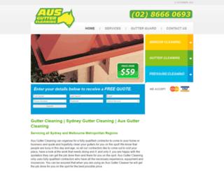 ausguttercleaning.com.au screenshot