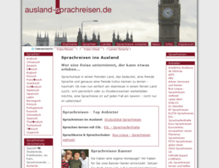 ausland-sprachreisen.de screenshot