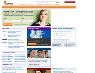 ausland.praktika.de screenshot