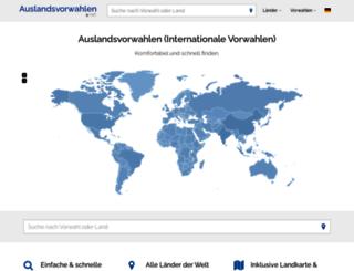 auslandsvorwahlen.net screenshot