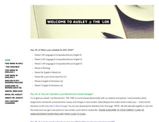 ausley.weebly.com screenshot