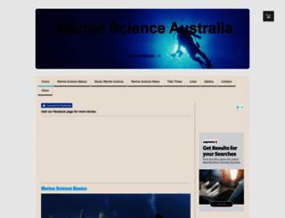 ausmarinescience.com screenshot