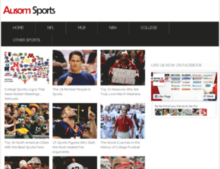 ausomsports.com screenshot