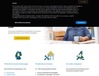 ausschreibungsdienste.bi-medien.de screenshot
