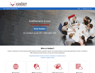 austdomains.com.au screenshot