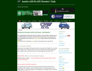 austina30a35ownersclub.co.uk screenshot