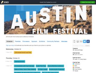 austinfilmfestival2014.sched.org screenshot