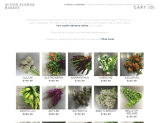 austinflowermarket.com screenshot