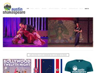 austinshakespeare.org screenshot