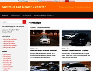 australia-car-exporter.com screenshot