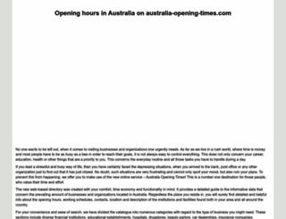 australia-opening-times.com screenshot