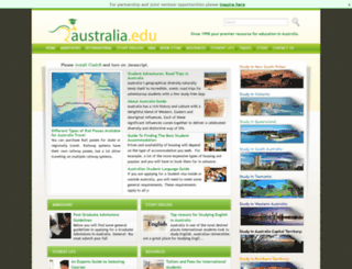 australia.edu screenshot
