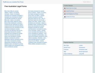 australia.findforms.com screenshot