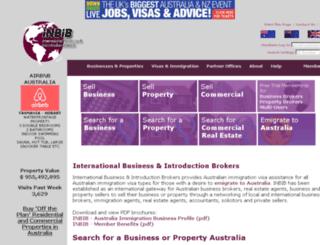 australia.inbib.com screenshot