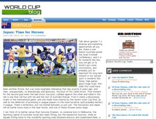 australia.worldcupblog.org screenshot