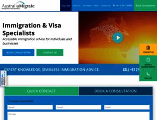 australiamigrate.com screenshot