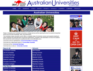 australian-universities.com screenshot