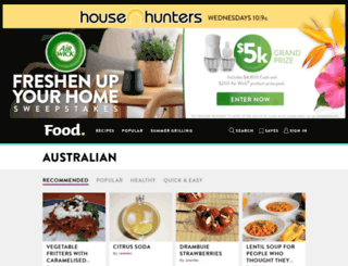 australian.food.com screenshot