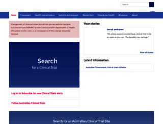 australianclinicaltrials.gov.au screenshot