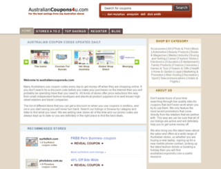 australiancoupons4u.com screenshot