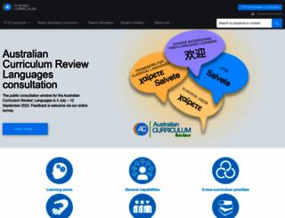 australiancurriculum.edu.au screenshot