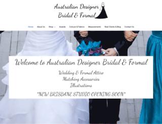 australiandesignerbridal.com.au screenshot
