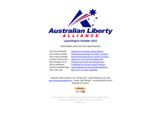 australianlibertyalliance.org screenshot