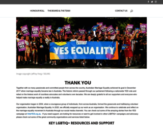 australianmarriageequality.org screenshot