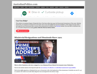 australianpolitics.com screenshot