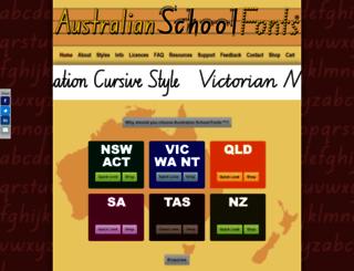 australianschoolfonts.com.au screenshot