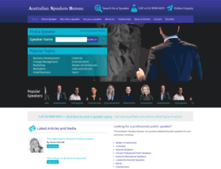 australianspeaker.com screenshot