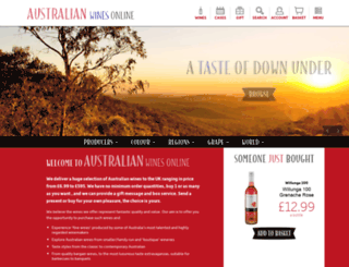 australianwinesonline.co.uk screenshot