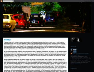 australiatoitaly.blogspot.com screenshot