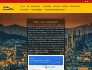 auswandern.com screenshot