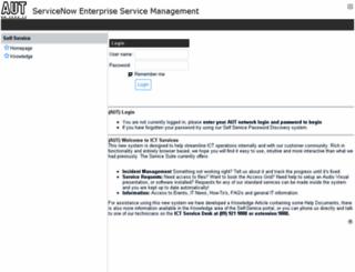 aut.service-now.com screenshot