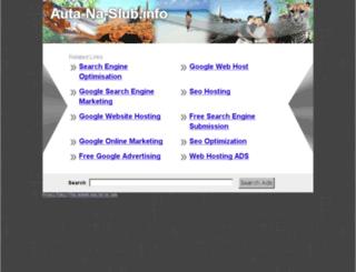 auta-na-slub.info screenshot
