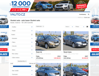 auta.yauto.cz screenshot