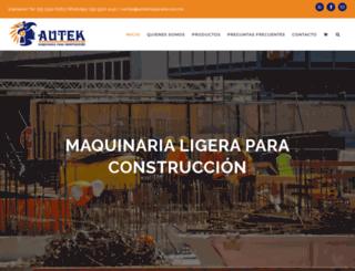 autekmaquinaria.com.mx screenshot